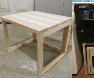 Easy Wooden Printer Stand (Universal Shelf)
