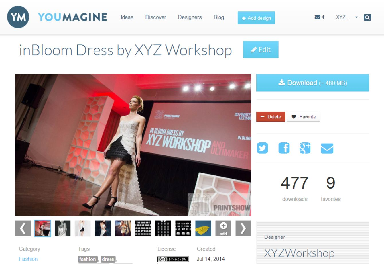 Picture of Open-Source 3D Printed Couture by XYZ Workshop