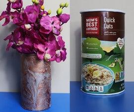 Recycled Craft Idea   Cardboard Vase