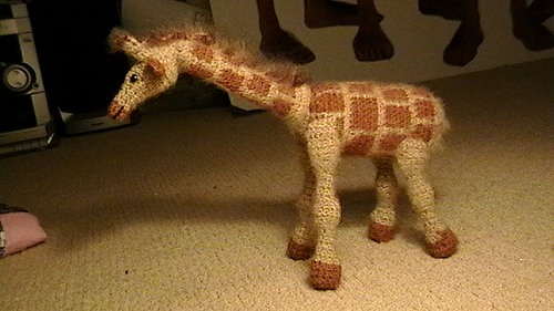 Picture of Crocheted Giraffe