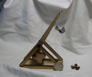 Make a desktop trebuchet