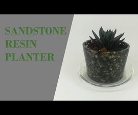 Planter With Sand and Epoxy Resin