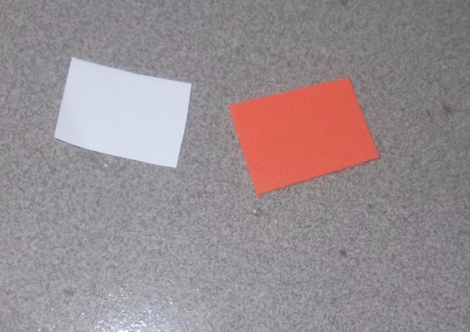 Picture of Cut the Orange Foam Rectangle to Roll Up Around the Pencil.