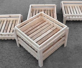 Stackable Wooden Storage Crates