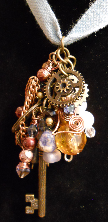 Picture of Steampunk Collage Necklace