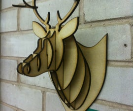MDF/Acrylic/Cardboard deer head taxidermy