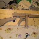 Cardboard M1 Thompson Machine Gun