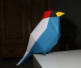 Papercraft Low-Poly Bird