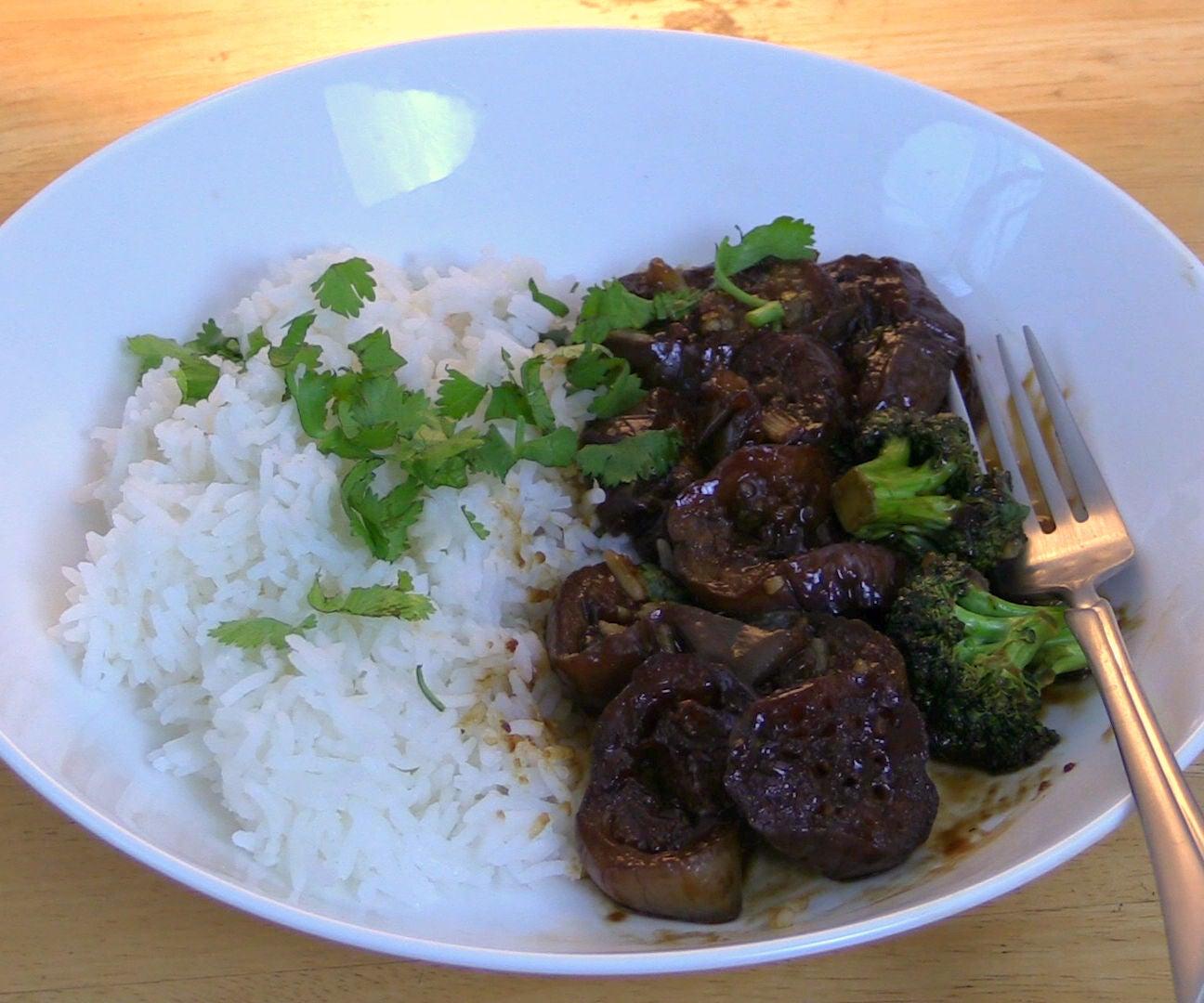 Sweet Sour Eggplant in Tamarind Sauce Stir Fry - Vegan Gluten-Free