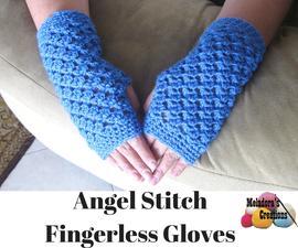 Angel Stitch Finger less Gloves – Free Crochet Pattern