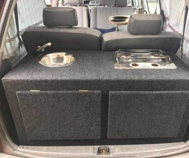 Campervan Sink and Gas Cooker Conversion for Toyota Tarago (Estima)