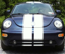 VW Beetle Rally Stripe!