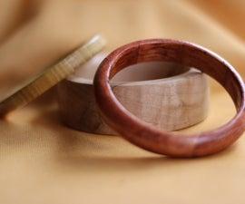 Wood Bangles on the lathe