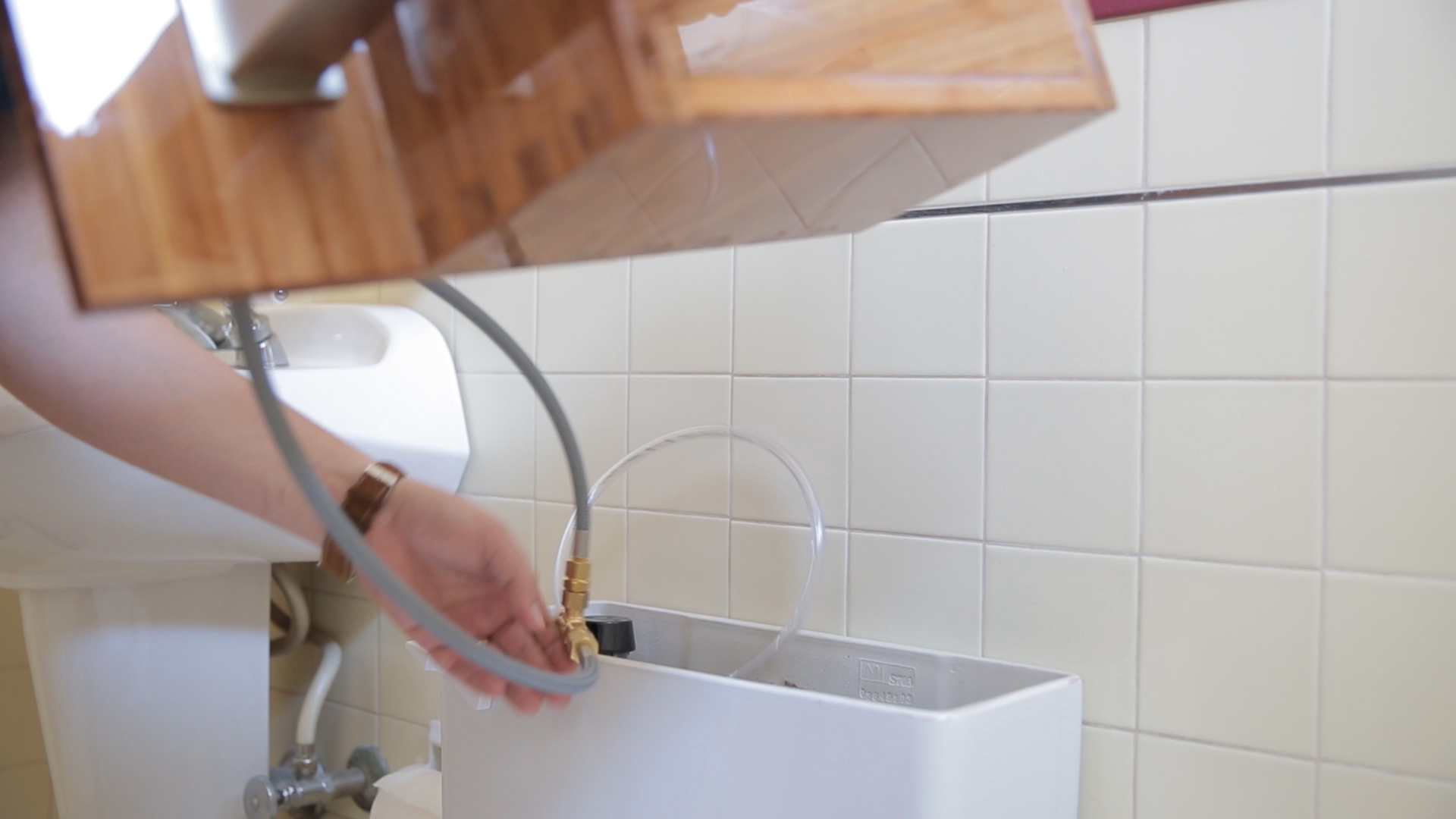 Picture of Attaching the Faucet and Pluming