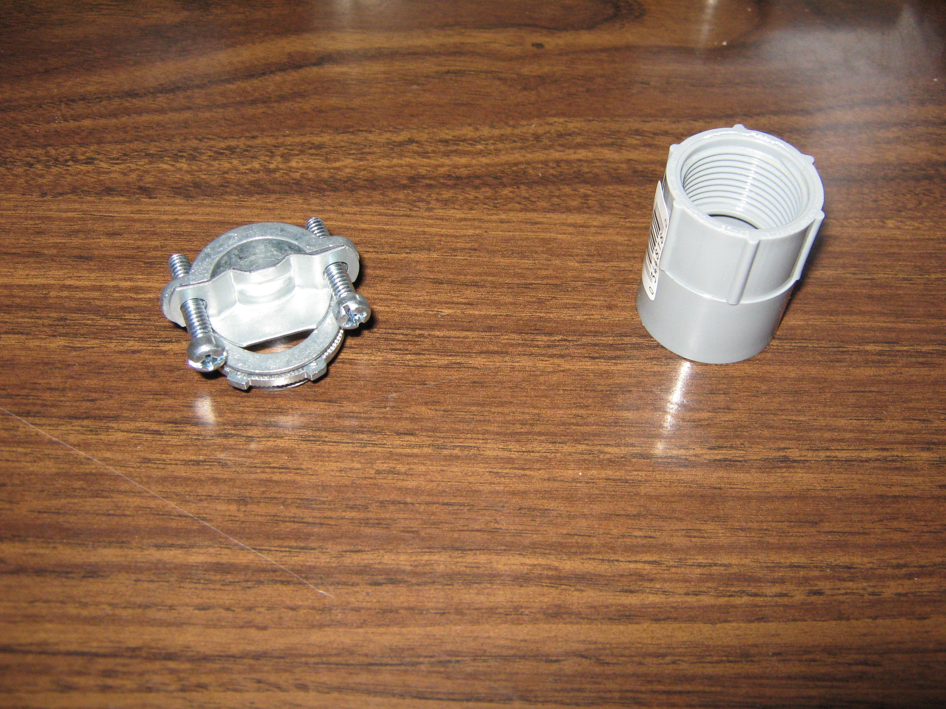 Picture of Prepare the Conduit Box/platic Fitting