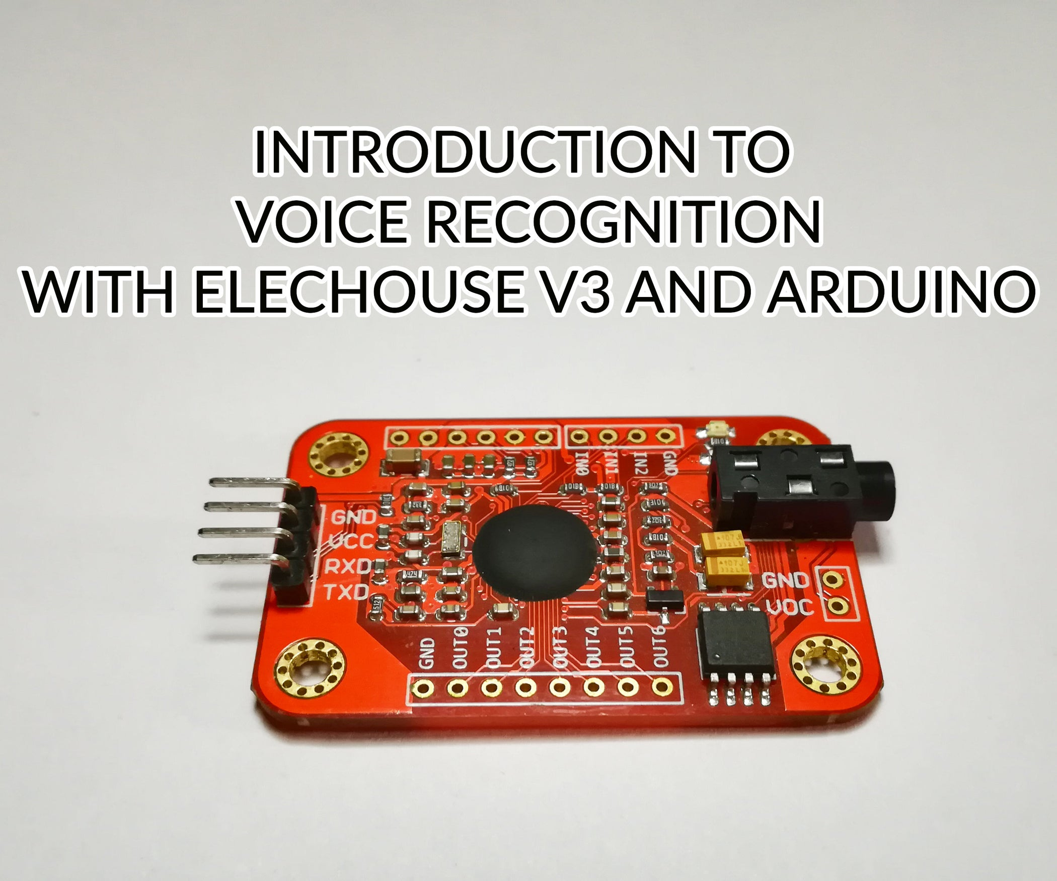 Introduction To Voice Recognition With Elechouse V3 And Arduino 4 Pin Circuit Die Cut Machine Cake On Pinterest Steps Pictures