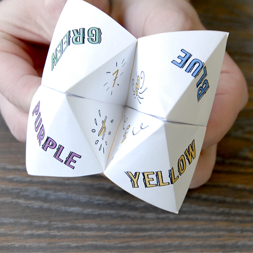 Picture of How to Make a Paper Fortune Teller
