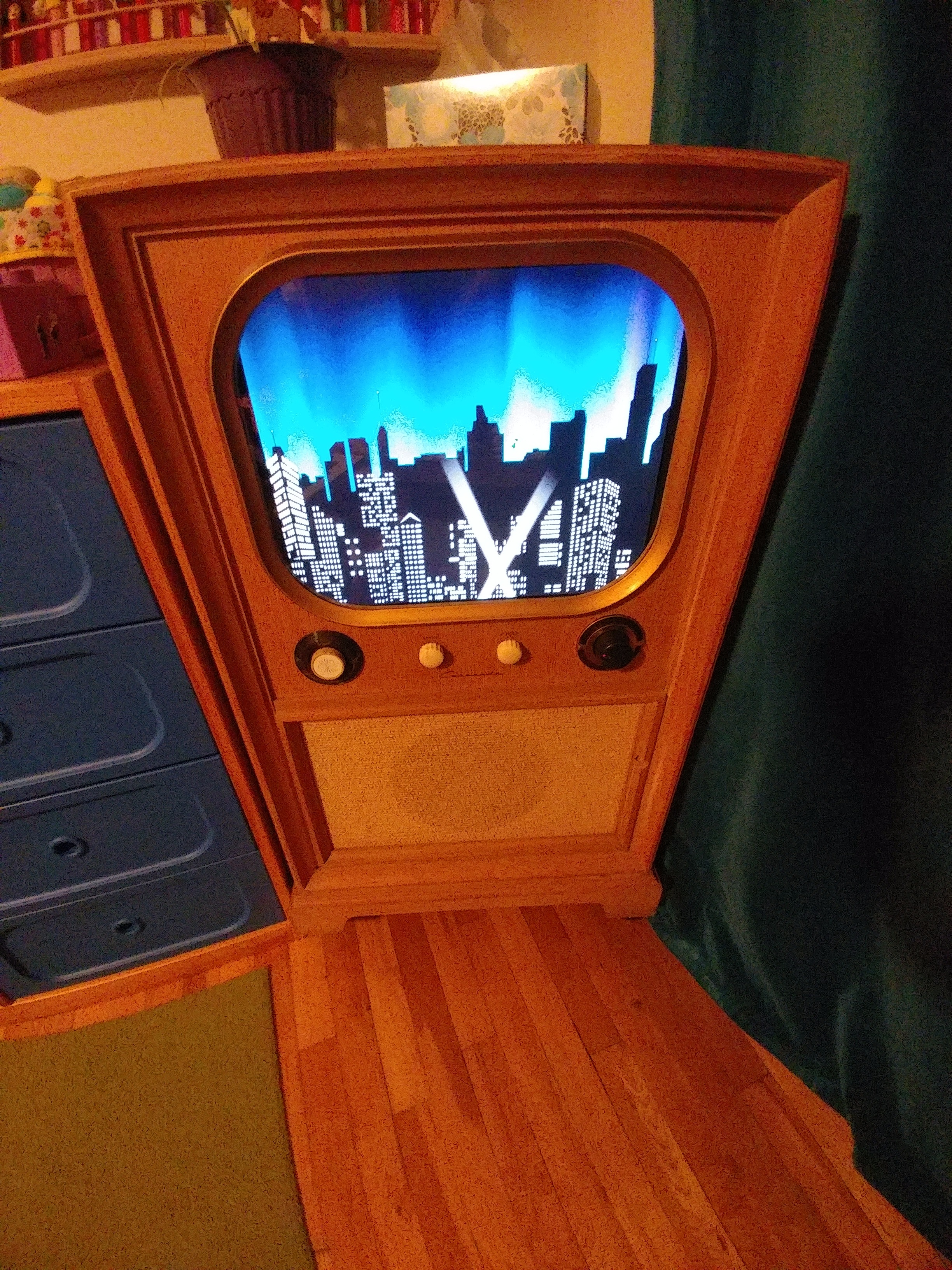 Picture of Retro TV Console Media Cabinet - UPDATED Now With RetroPie
