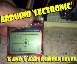 Arduino Micro Electronic Bubble Level
