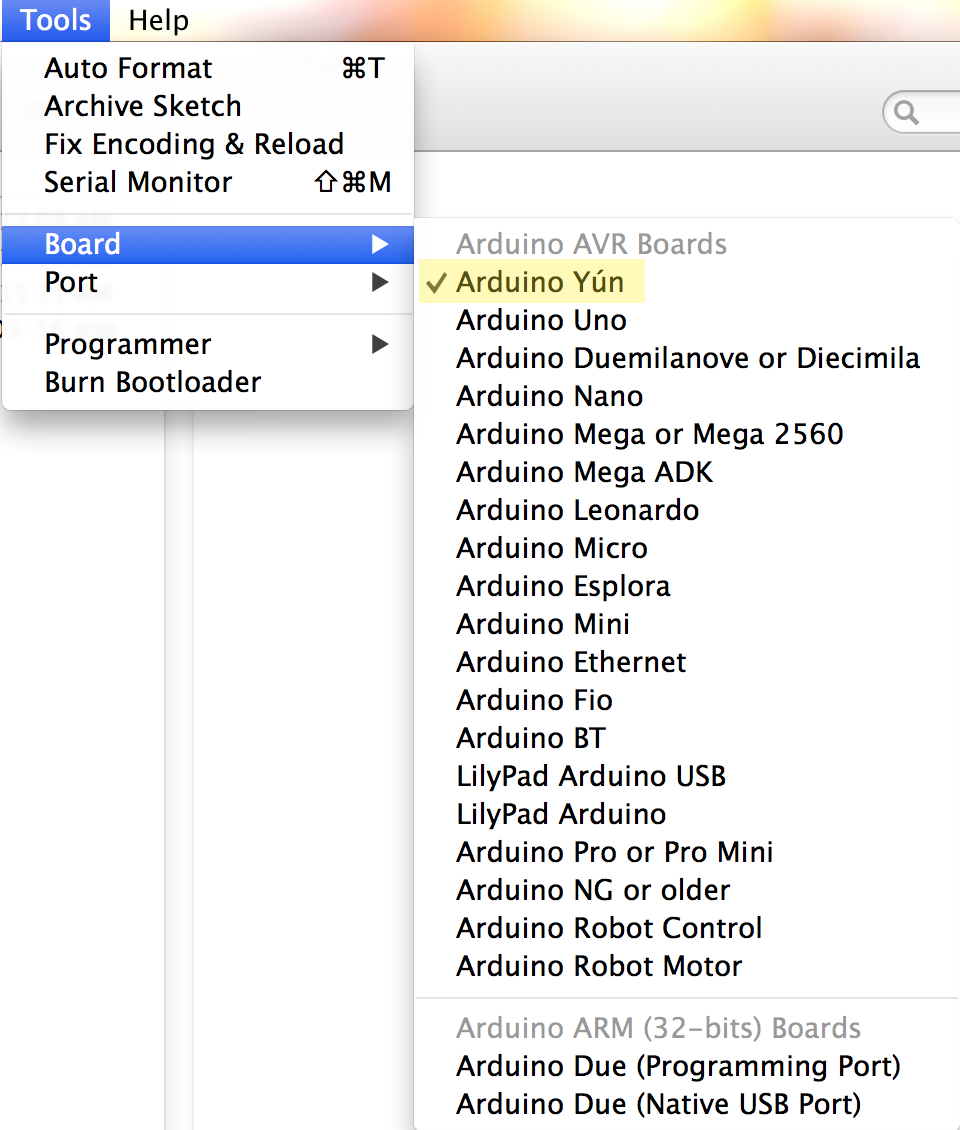 Picture of Running an Example With Arduino Yun