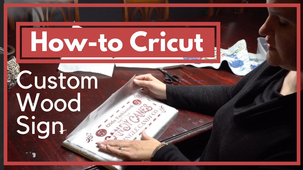 Picture of How to Make a Wood Sign With a Cricut - Christmas Craft Tutorial
