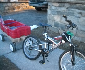 How To Make a Bike Trailer Out Of A Wagon