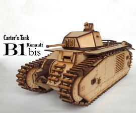 Carter's Lasercut Tank - B1 Bis