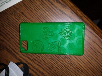 3d Printed & Laser-engraved Iphone 5c Case