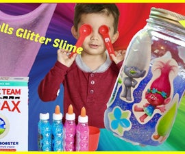 How to Make Trolls Glitter Slime   Easy Recipe Only 2 Ingredients