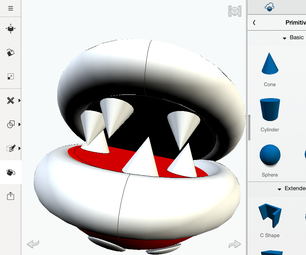 3D Printable Mario Sewer Pipe & Piranha Plant