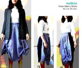 TwiSkirt : Inexpensive No-sew Womenswear From Men's Shirts DIY
