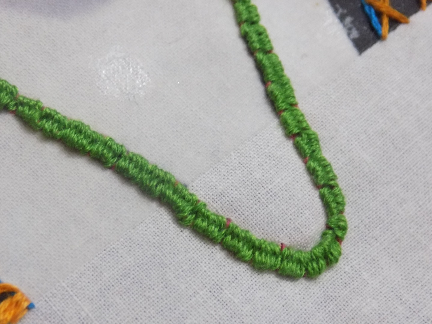 Picture of Woven Back Stitch Continued