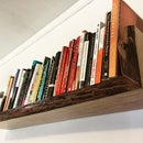 Live Edge Reverse Waterfall Floating Shelf