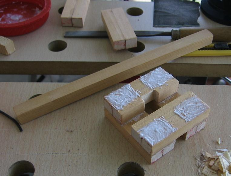 Picture of Gluing and Making the Headstock Hole
