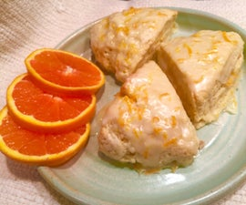 Orange Blossom Scones