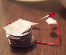 how to make a battery with quarters