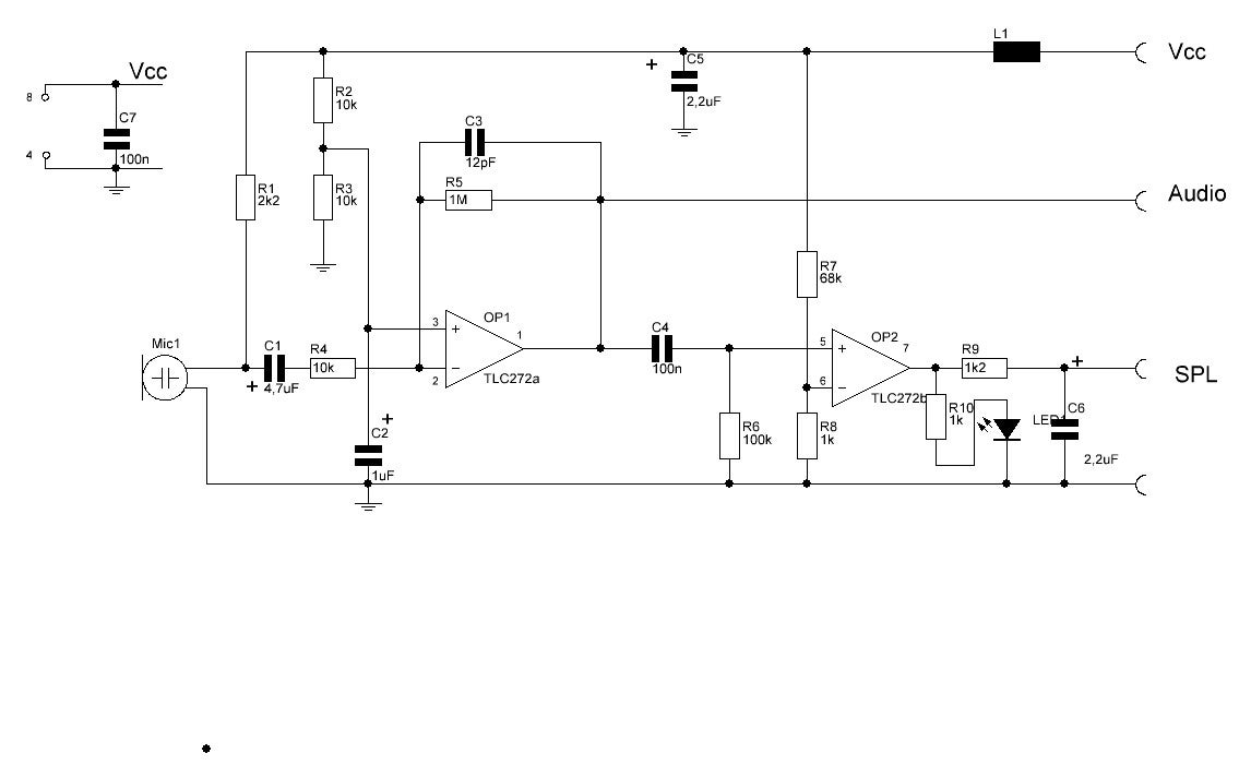 Sound Pressure Sensor And Mike Pre Amp For Arduino Pin Electret Microphone Amplifier Circuit Schematic On Pinterest