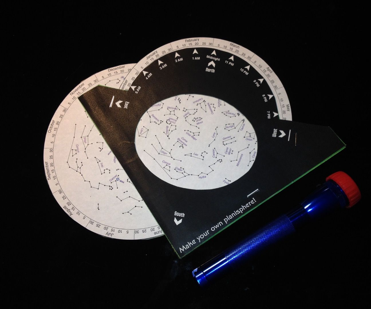 picture relating to Planisphere Printable named Starwheel for Garden Astronomy (Planisphere): 7 Methods