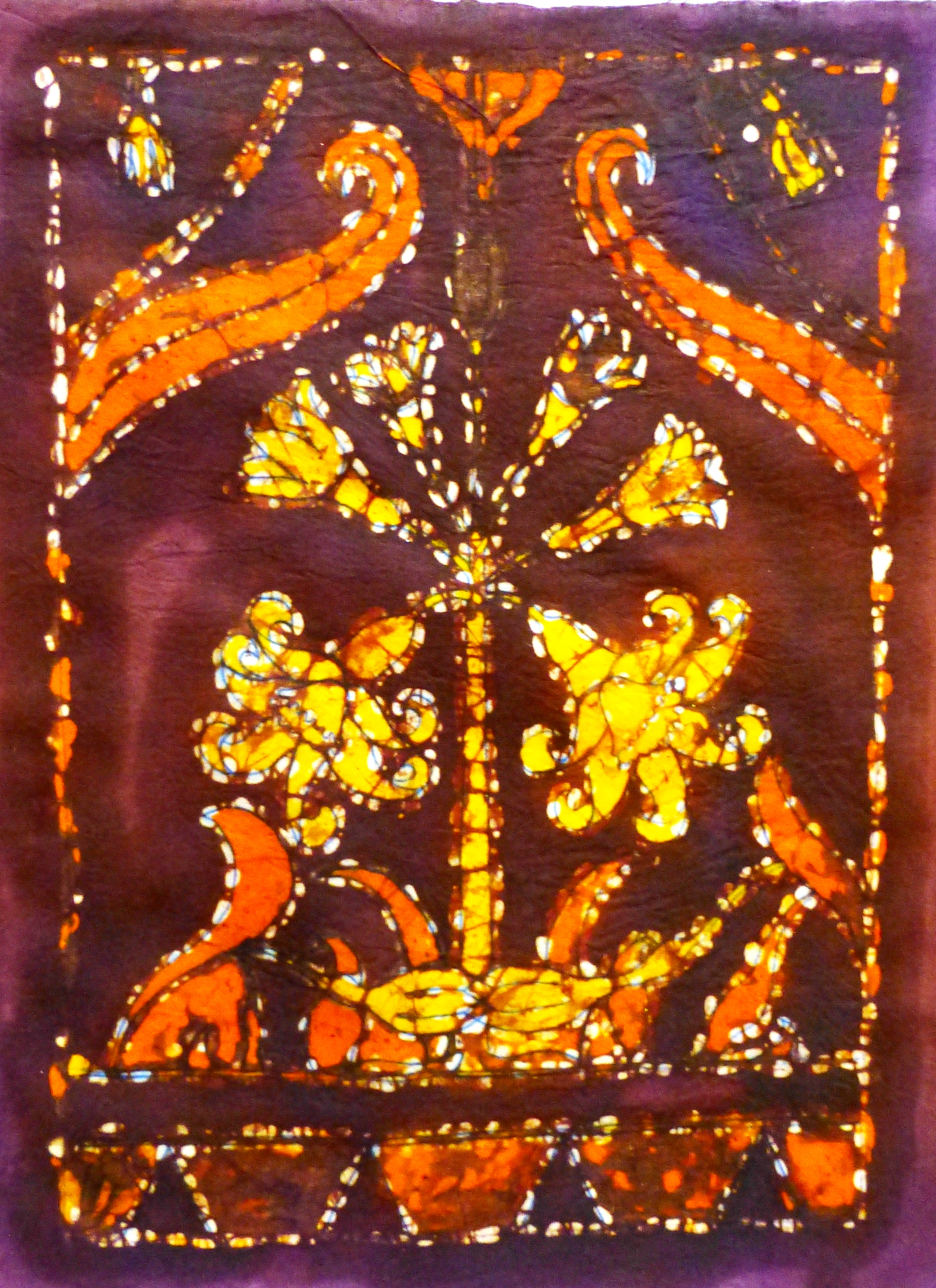 Picture of Batik Printing a Wall Hanging
