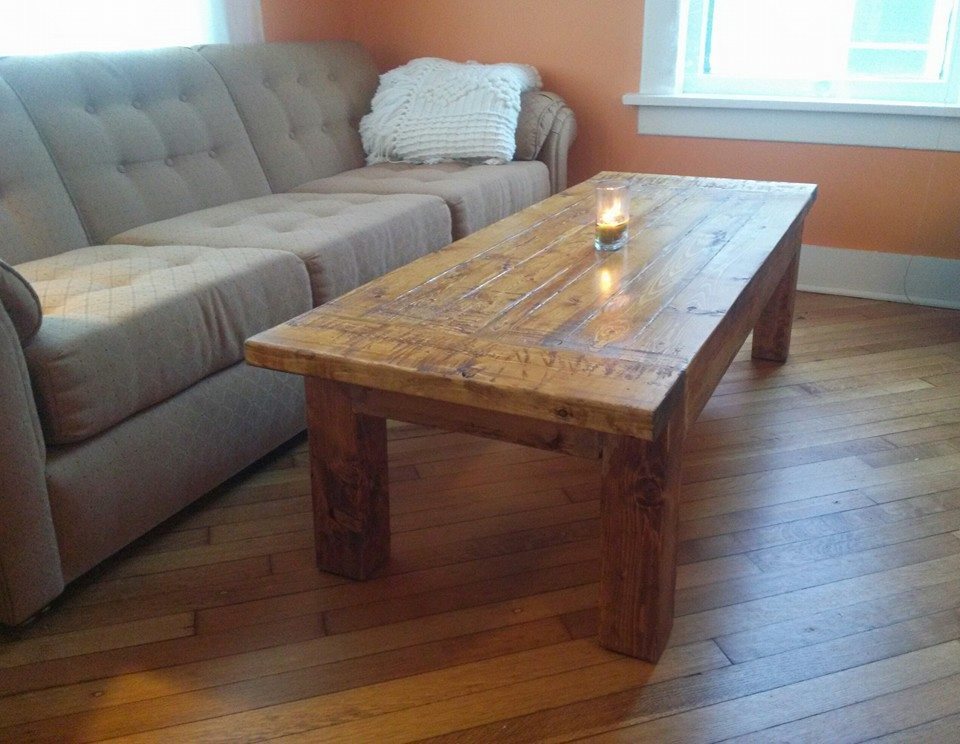 Picture of Beautiful Inexpensive Rustic Coffee Table