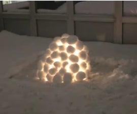 How To Make A Snow Lantern