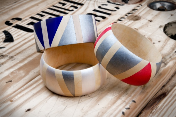 Picture of Kollabora's Geo Painted Wooden Bangles