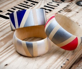 Kollabora's Geo Painted Wooden Bangles