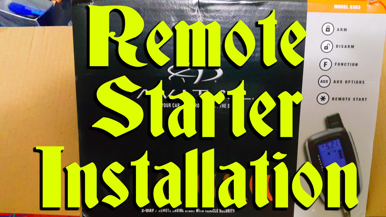 Picture of Car Remote Starter Installation!