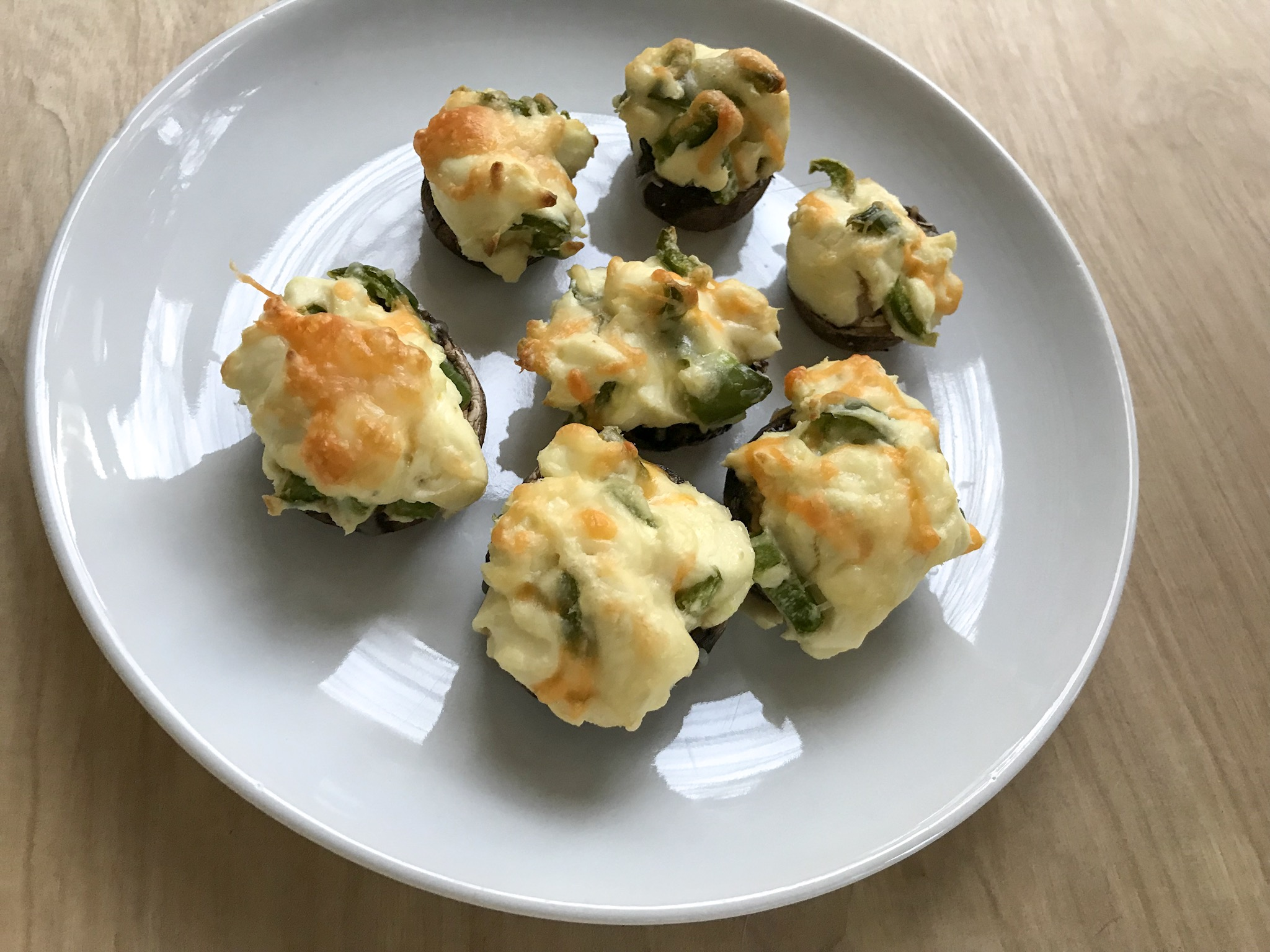 Picture of Jalapeno Popper Stuffed Mushrooms