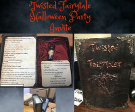 Twisted Fairytale Halloween Party Invite