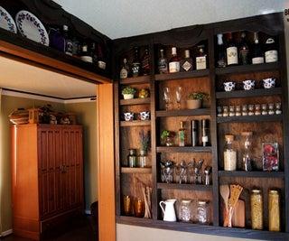 Built-in Kitchen Shelves!
