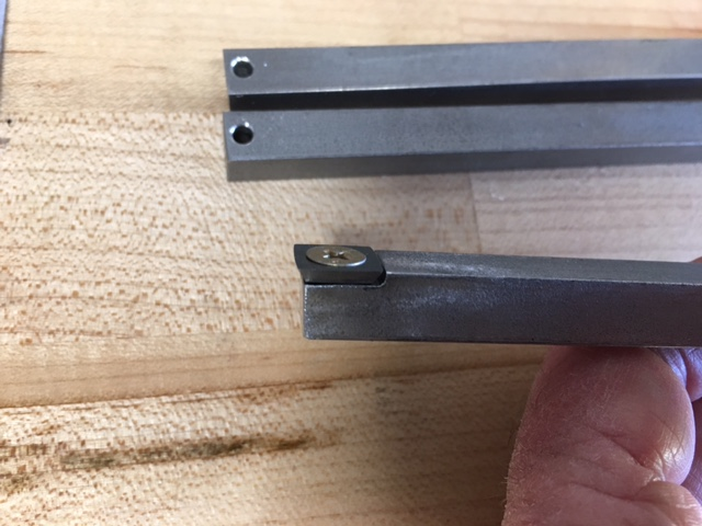 Picture of Marking and Grinding to Place the Carbide Insert Flush With the Top of the SS