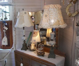 How to make Shabby Chic, Vintage inspired Lampshade