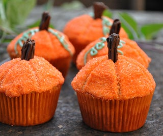 Pumpkin Top Cupcakes